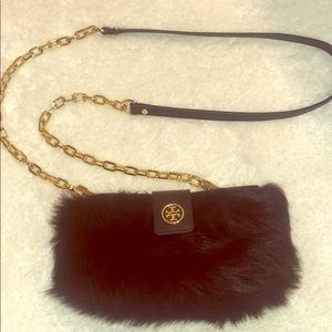 Faux Fur Tory Burch Bag
